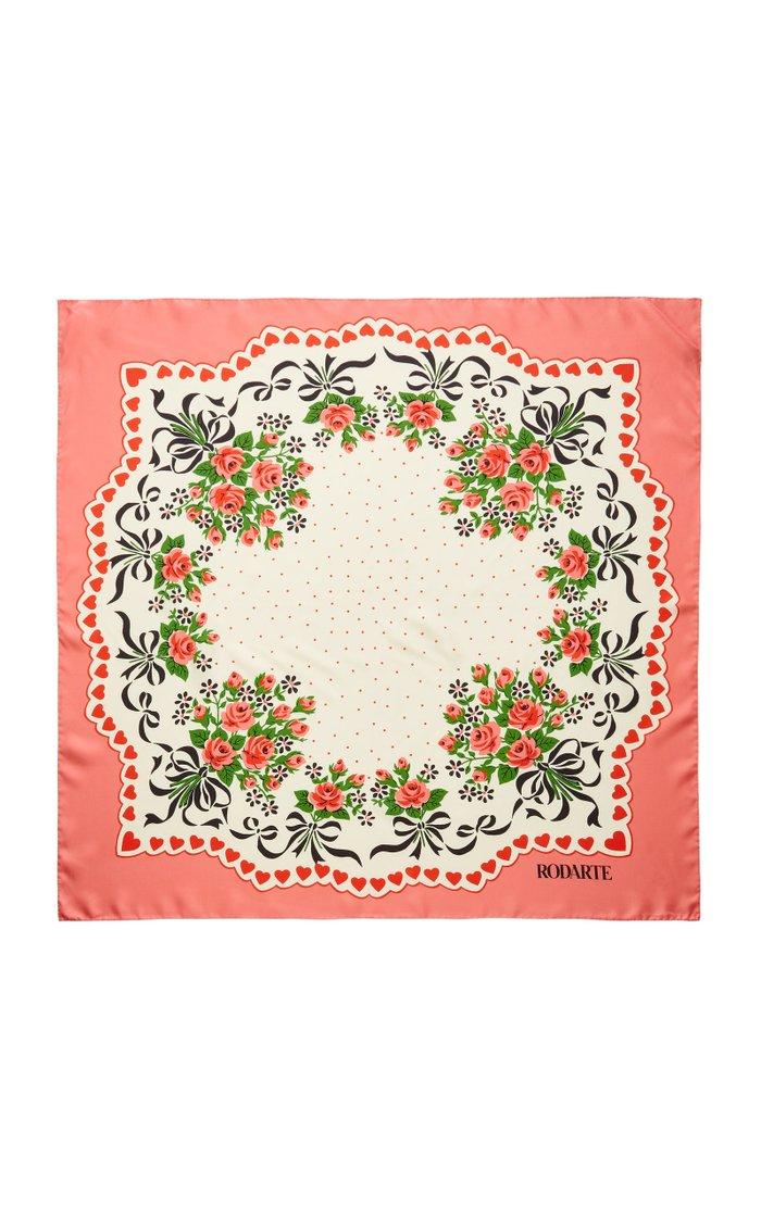 Floral Bouquet Silk Scarf
