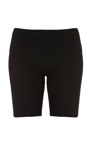 Claire Ribbed-Knit Mini Shorts