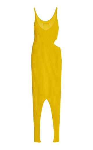 Claire Cutout Ribbed-Knit Midi Dress