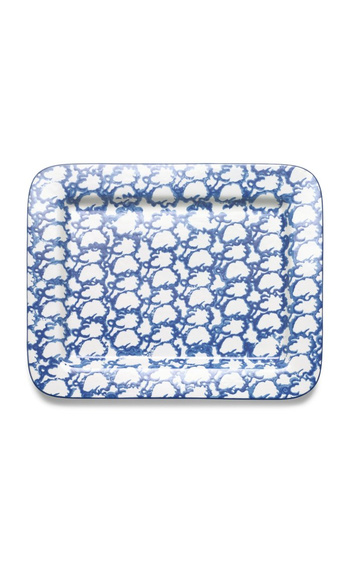 Spongeware Rectuangular Serving Platter