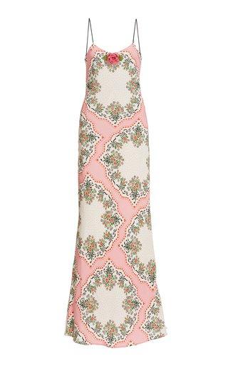 Printed Bias-Cut Silk Slip Dress
