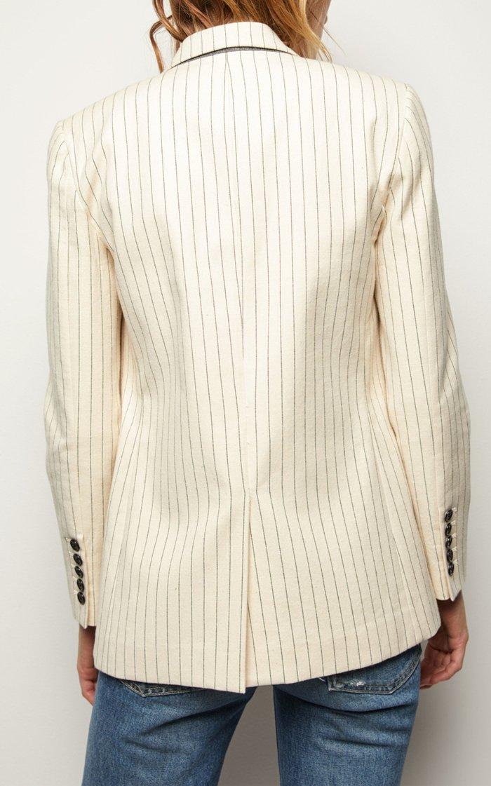 Don Pinstriped Cotton Blazer