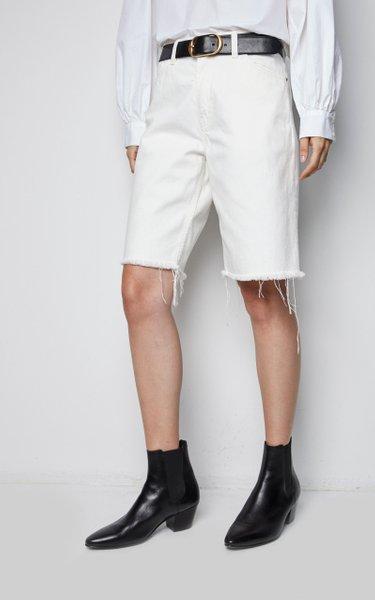 Cotton Boyfriend Bermuda Shorts