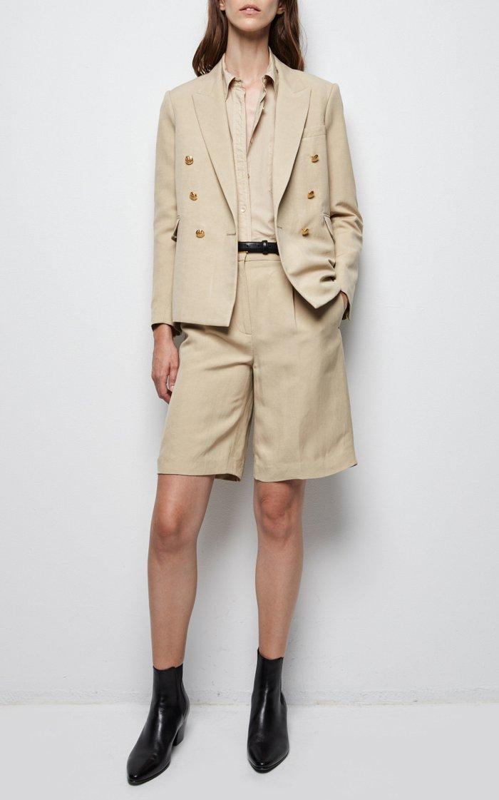 Hyde Linen-Silk Shorts