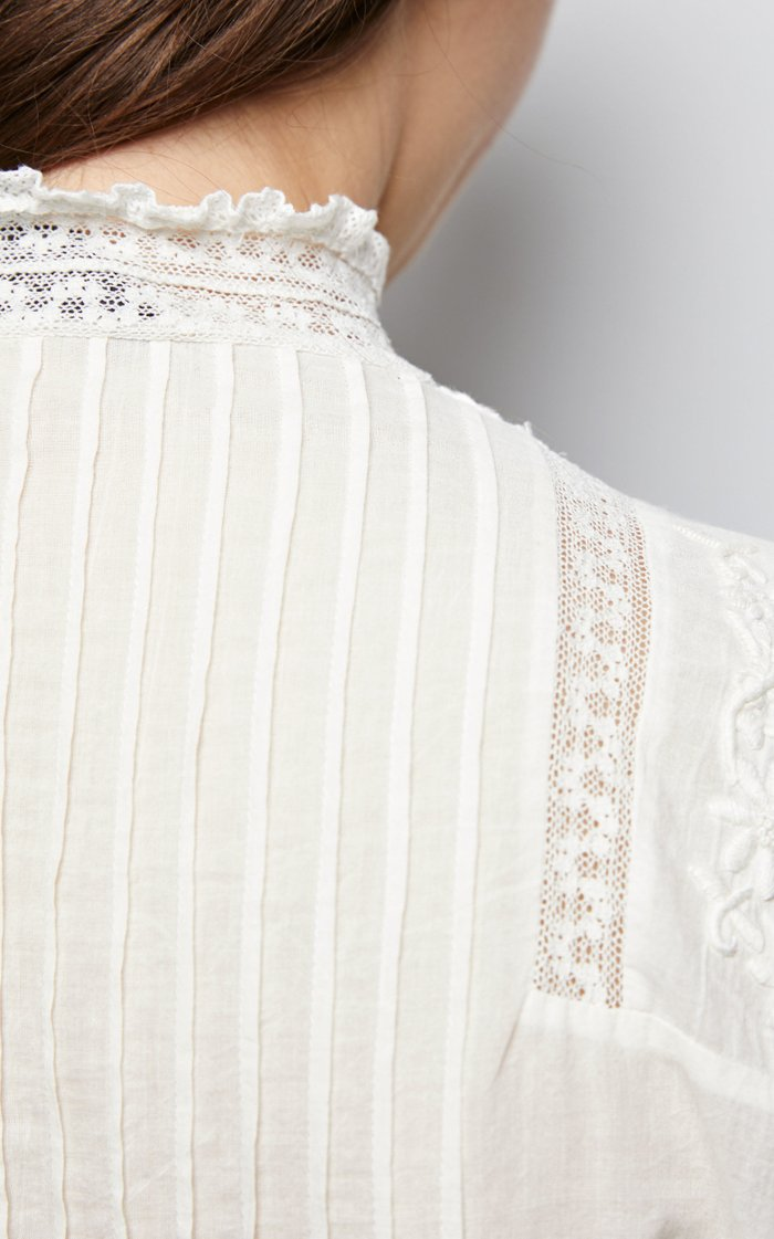 Harriet Embroidered Cotton Shirt