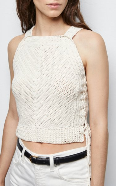 Violet Crochet Tank Top