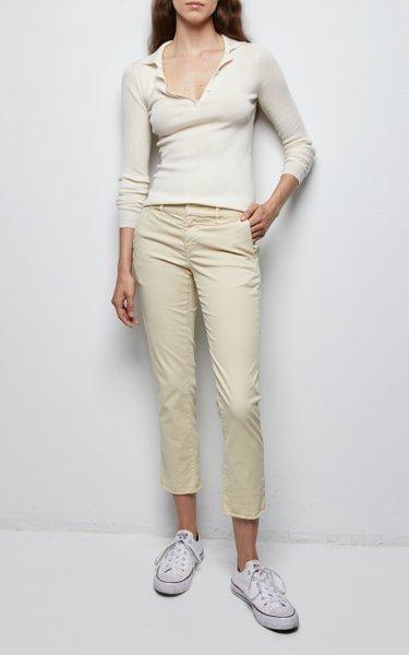 Daisy Wool-Blend Polo Sweater