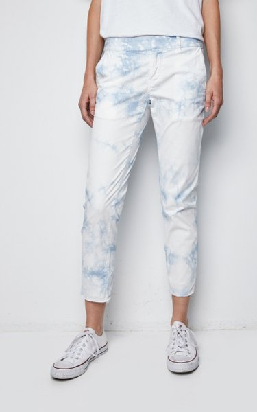 East Hampton Cotton-Blend Cropped Pants