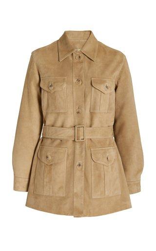 Fran Belted Suede Field Jacket