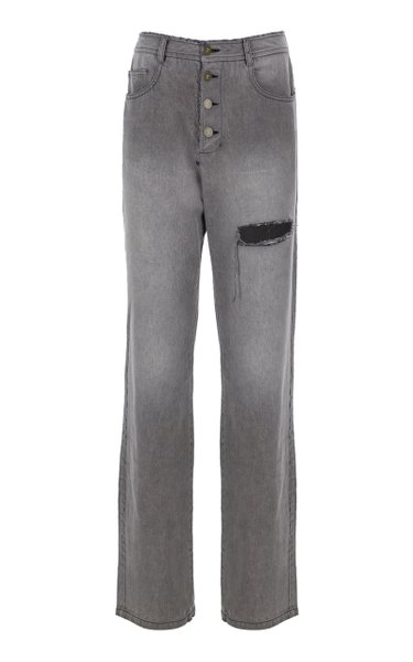 Vintage Stretch High-Rise Straight-Leg Jeans