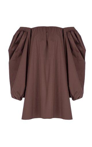Puff Cotton-Blend Mini Dress