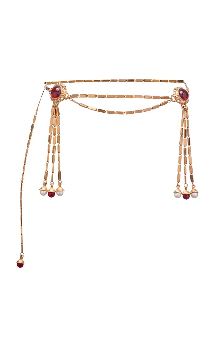Sidonia 18K Gold Plated Chain Tassel Belt