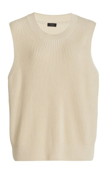 Ribbed-Knit Cotton Top