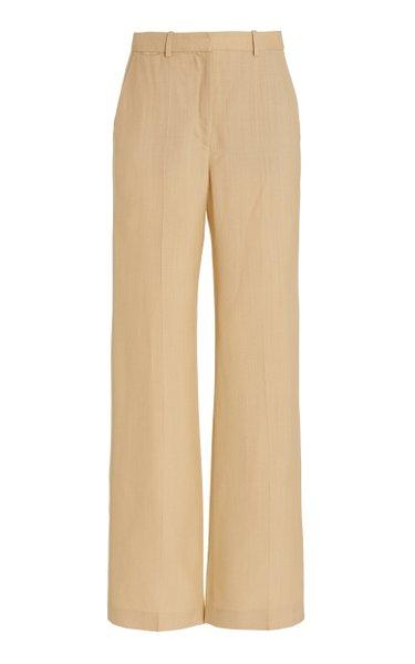Morissey Shantung Wide-Leg Pants