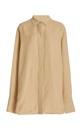 Brena Oversized Shantung Shirt