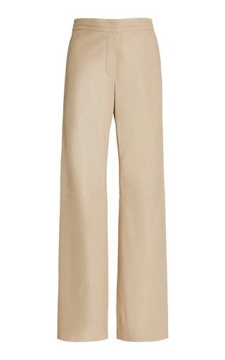 Tristan Leather Wide-Leg Pants
