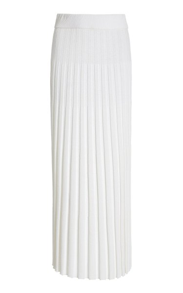 Textured Ribbed-Knit Maxi Skirt