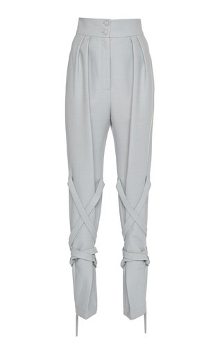 SpecialOrder-Wool Strappy High-Waist Pants-ER