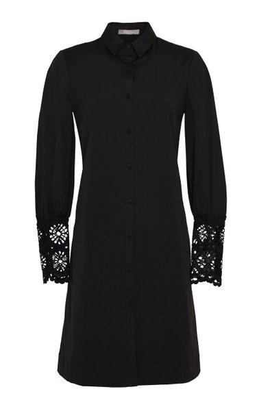 Embroidered Eyelet Poplin Shirt Dress