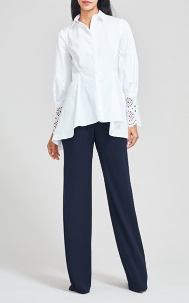 Maggie Fluid Crepe High-Rise Pant
