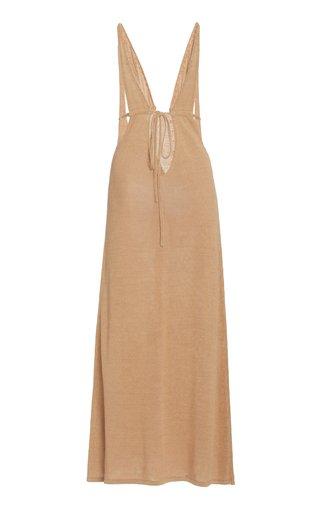 Cult Gaia Women's Kingsley Linen-blend Knit Maxi Dress In White