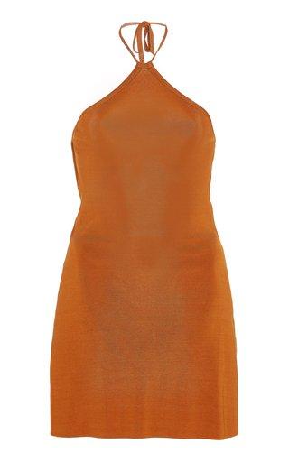 Leslie Open-Back Knit Mini Dress
