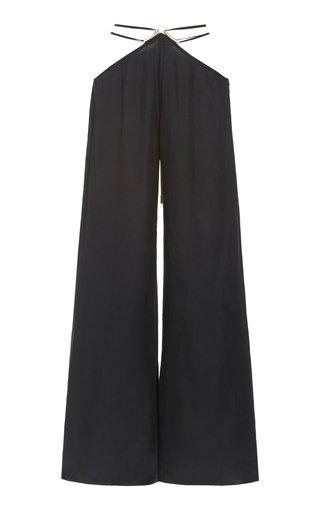 Tessa Tie-Detailed Wide-Leg Crepe Pants