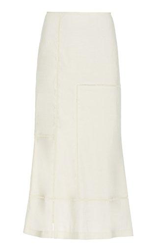 Candice Linen-Blend Midi Skirt