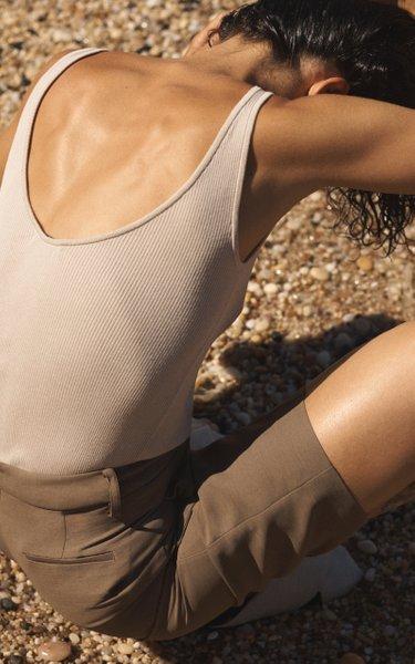Silk Ribbed Knit Tank
