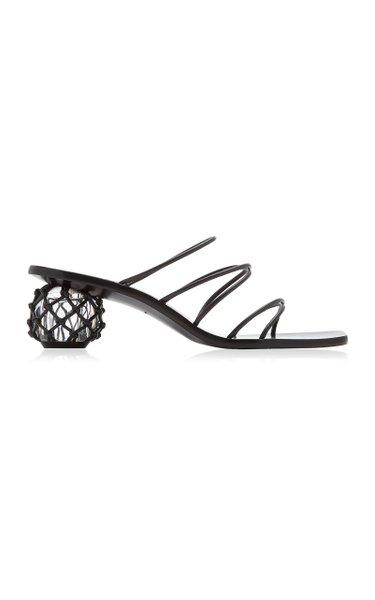 Kelly Embellished Leather Sandals