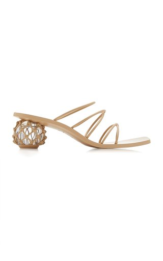 Kelly Embellished Leather Sandals