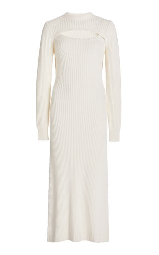 Exclusive Thousand-In-One-Ways Wool-Cotton Dress
