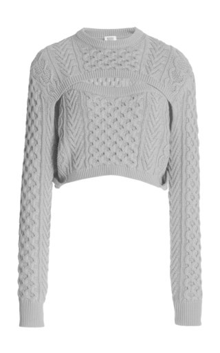 Exclusive Thousand-In-One-Ways Wool-Cotton Sweater