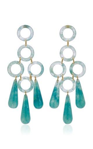 Bibi Small Marbled Acrylic Earrings