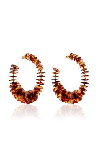 Hera Tortoiseshell Acrylic Hoop Earrings
