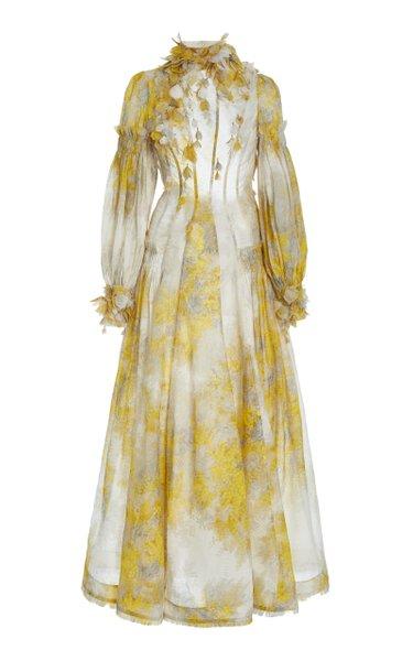 Botanica Printed Linen-Silk Maxi Dress