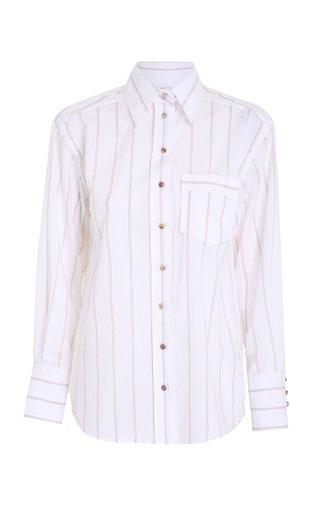 Botanica Cotton-Blend Button-Up Shirt