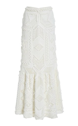 Candescent Hand-Crocheted Cotton Skirt