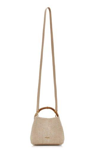 Solene Mini Raffia Top Handle Bag