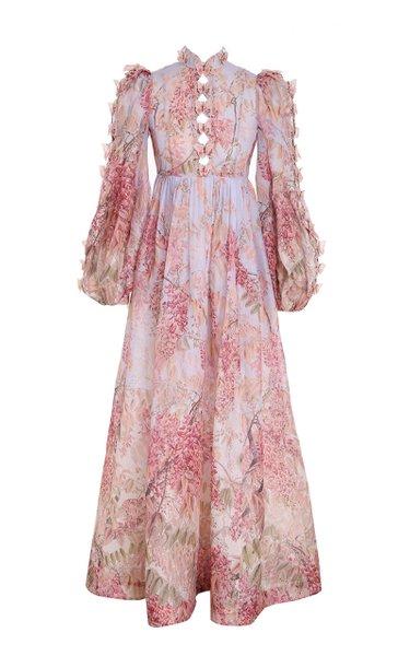 Botanica Linen-Silk Butterfly Gown