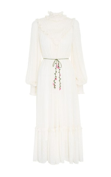 Smocked Yoke Midi Dress