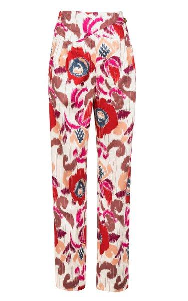 Aloha Basque Cotton Straight-Leg Pants