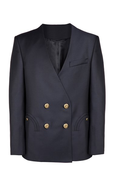 Spirit Wool-Twill Double-Breasted Blazer