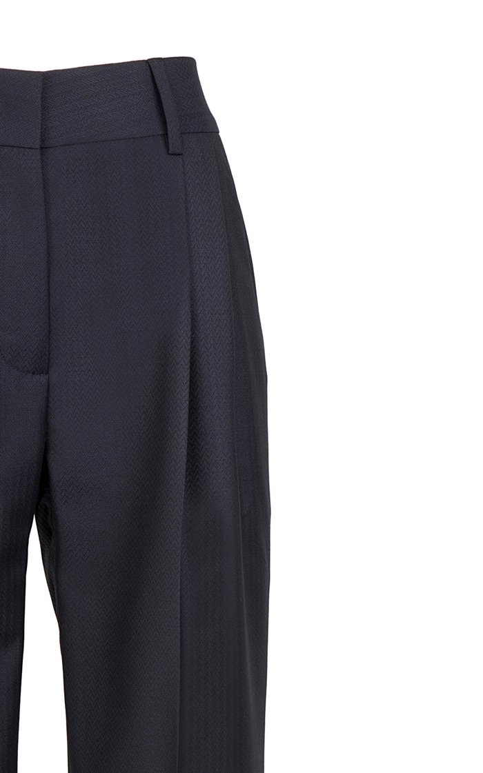 Spirit Wool-Twill Straight-Leg Pants