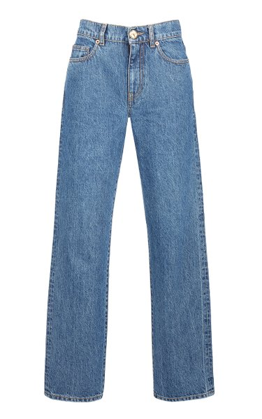 Nariida Rigid High-Rise Straight-Leg Jeans