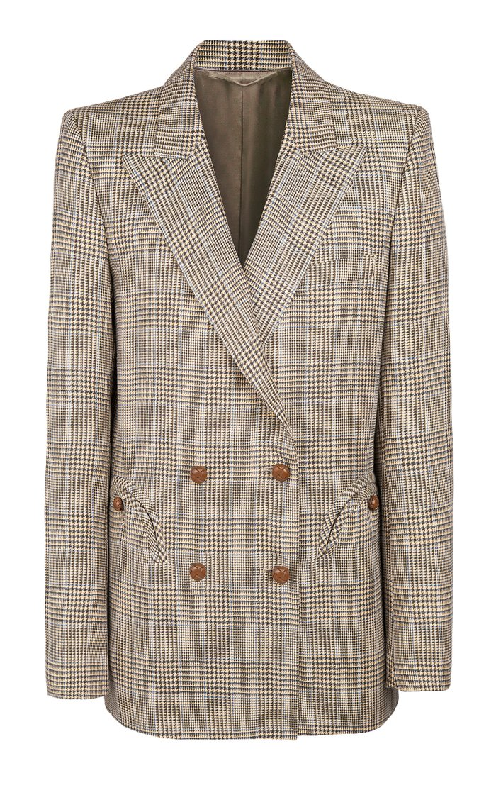 Merit Double-Breasted Wool-Linen Blazer