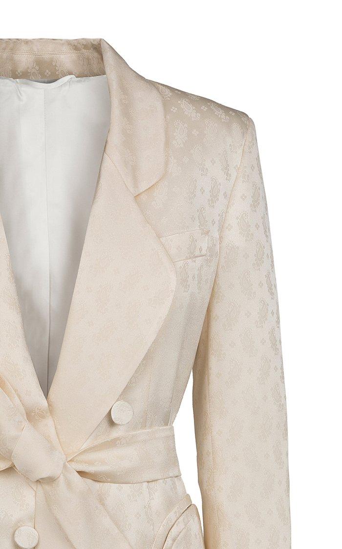 Whisper Belted Silk Blazer