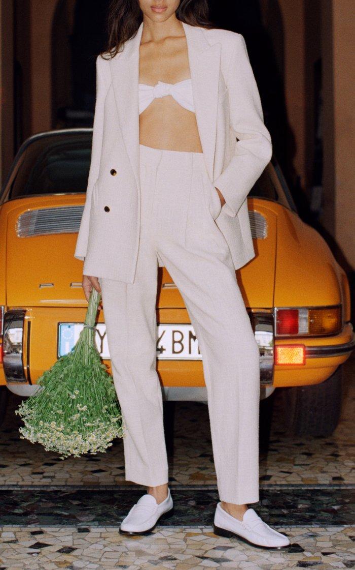 Cotton-Blend Missy Blazer