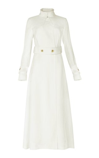 Marple Satin-Linen Trench Dress