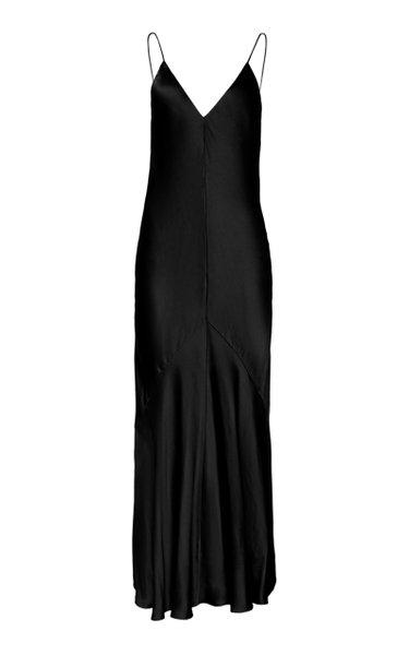 Liquid Bias-Cut Satin Slip Dress